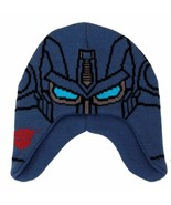 The Transformers Optimus Prime Image Knitted Laplander Beanie Hat, NEW U... - $14.50