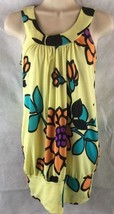 Romeo & Juliet Couture Sleeveless Bold Floral Knit Top Banded Bottom SZ ... - $15.84