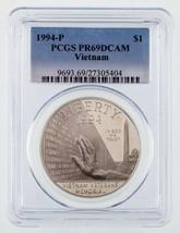 1994-P Argent Vietnam Commémoratif Preuve Classé par PCGS comme PR69DCAM - $39.53