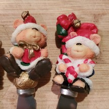 Xmas Bear Spreadables, set of 4, Christmas spreaders cheese knife, butter knives image 7
