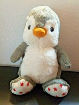 Cloud B Dreamy Hugginz Penguin Gray White Red Stars Plush Stuffed Animal - $12.84