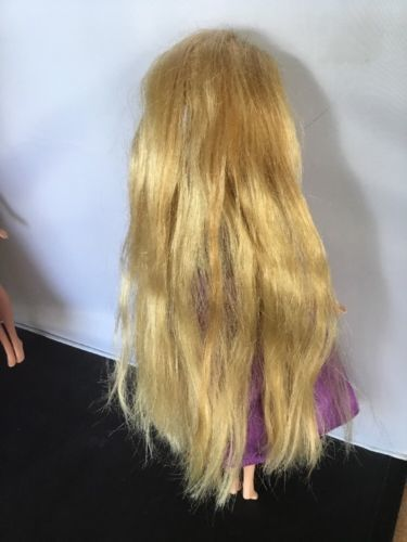 "Tangled Disney Princess Rapunzel 10.5"" Barbie Doll Mattel Toys  2006 Purple"