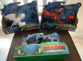 How To Train Your Dragon The Hidden World Snotlout Hiccup Grimmel 3 Sets... - $46.99