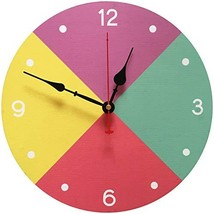 Yesee Silent Wall Clock Non Ticking Wooden Wall Clock Battery Operated D... - $14.92