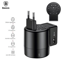 Baseus 2.4A Dual USB Universal Travel Wall Adapter Whirl USB Charger Con... - $42.00