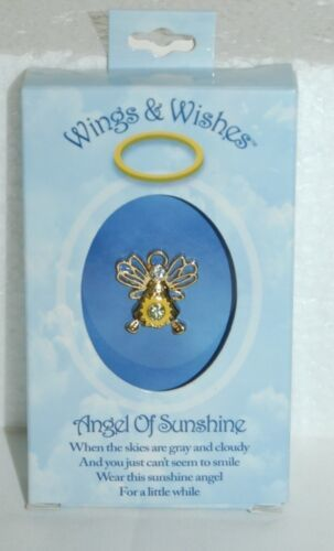 DM Merchandising Wings Wishes Sunshine Angel Yellow Gold Color WGWSUN