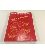 Volkswagen Rabbit Scirocco Service Shop Manual 1975 1976 1977 LPV-997-171 - $14.99