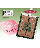Merry Making Mini: Tree christmas cross stitch chart Heart in Hand - $6.30