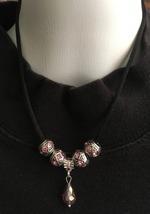 Pink Crystal Teardrop, Pink Crystal Euro Bead N... - $19.99