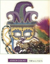 MARDI GRASS MASK   -  CROSS STITCH PATTERN ONLY    HM - RUS - $5.40
