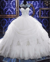 Plus sized Beaded Ball Gown Wedding Dress  at Bling Brides Bouquet Online Bridal image 2