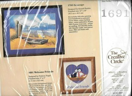 The Creative Circle #1691 Welcome Friends Counted Cross Stitch Kit - NIP - $9.90