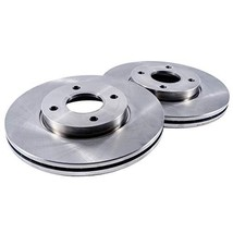 "Detroit Axle - 10.04"" 255mm 4 Lug FRONT Brake Rotors - Premium Grade for Chevy P"