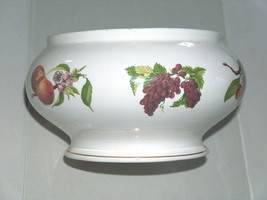 Teleflora Ceramic Fruit Planter Flower Pot Cherries, Grapes, Apples, Plu... - $24.73