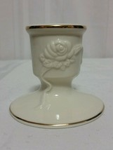 "Lenox Rose Blossom Candle Holder Cream With Gold Trim 2.5"" Brand New sh - $9.90"