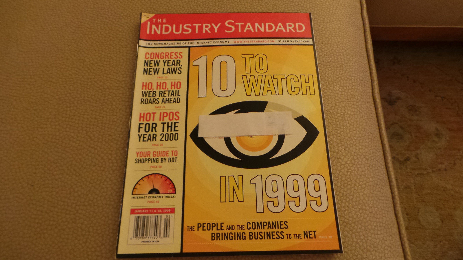 Industry Standard Internet Economy 10 to Watch; New Startups; Bots;1998