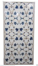 3'x6' White Marble Dining Coffee Table Top Mosaic Lapis Gem Marquetry Ar... - £2,955.60 GBP