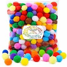 Caydo 300 Pieces 1 Inch Assorted Pompoms Multicolor Arts and Crafts Pom ... - $9.11