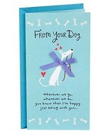 Hallmark Mother's Day Greeting Card From Dog (Dog With Red Bow You're My - $12.42