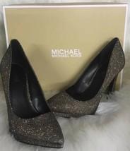 Michael Kors Brielle Women's fine glitter mesh Pumps Bronze size 5 shoes - $79.15
