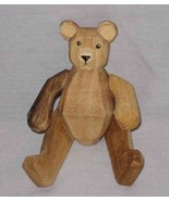 "SO CUTE 6"" Wood Wooden JOINTED BEAR - $19.24"