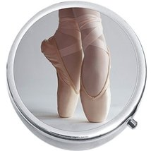 Ballet Shoes Medicine Vitamin Compact Pill Box - $9.78
