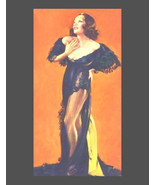 Art Deco, Pin Up, Brunette in Black Negligee, 1930s pin ups, pin up art,... - $15.99