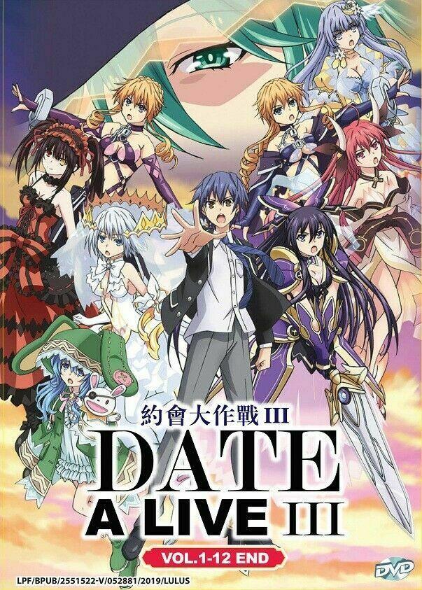 DATE A LIVE (III) Season 3 TV Series (1-12 End) English Subtitle Ship From USA