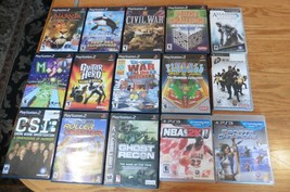 Lot of 15 Playstation 2 PS3 & PSP games Assassins Creed Sports Champion ... - $114.14
