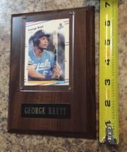 GEORGE BRETT plaque 1987 baseball card mounted FLEER 254 Kansas City Roy... - $18.51