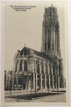 Old Real Photo Postcard RPPC The Riverside Church New York City, New Yor... - $17.85