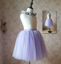 Flower Girl Tutu Skirts Light Purple Girl Skirts for Wedding image 6
