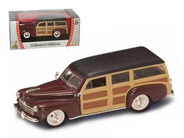 1948 Ford Woody Burgundy 1/43 Diecast Model Car by Road Signature - $20.99
