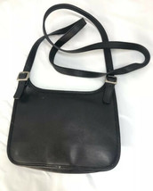 vintage Coach small Black leather vintage crossbody bag 9142 - $29.69