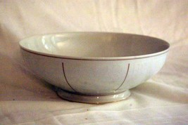 "Rosenthal White Velvet Round Vegetable Bowl 9 3/8"" Continental Line Gold... - $34.64"