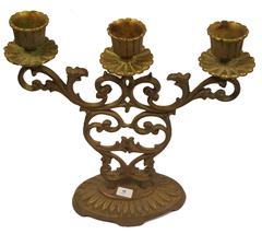 Judaica Shabbat Candlestick Candle Holder Bronze Vintage Israel Hen Holon 1960's image 2