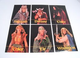 Dragon Strike 1993 Tsr Board Game Replacement Part - Set Of 6 Character Cards - $5.95