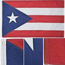 Puerto Rico 3' x 5' Ft Nylon Premium Outdoor Embroidered Double Sided Flag - $36.00