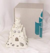 Partylite Sand Castle White Bisque Porcelain Tealight Holder P7306 - $9.85