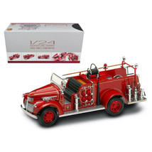 1941 GMC Fire Engine Red with Accessories 1/24 Diecast Model Car by Road Sign... - $113.56