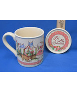 Watkins Country Kids Coffee Mug Cup w/ Coaster Lid Be My Valentine 1990 - $9.89