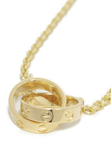 Studio Cartier K18YG Baby Love Necklace 18 Yellow Gold - $2,229.81