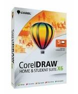Corel CorelDRAW Home & Student Suite X6 - 3 Users Design Editi Graphics ... - $189.99