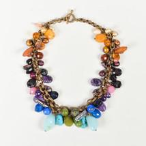 Stephen Dweck Multicolor Gemstone Bead & Pearl Collar Necklace - $510.00