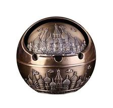 PANDA SUPERSTORE Creative Retro European Style Ashtrays for Home Office, Bronzed