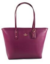 Coach City F37785 Fuchsia Crossgrain Leather Handbag/Tote - $158.39