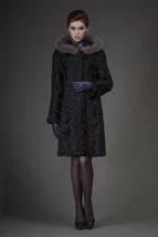 Hooded Black Persian Lamb Bridgitte - $2,277.00