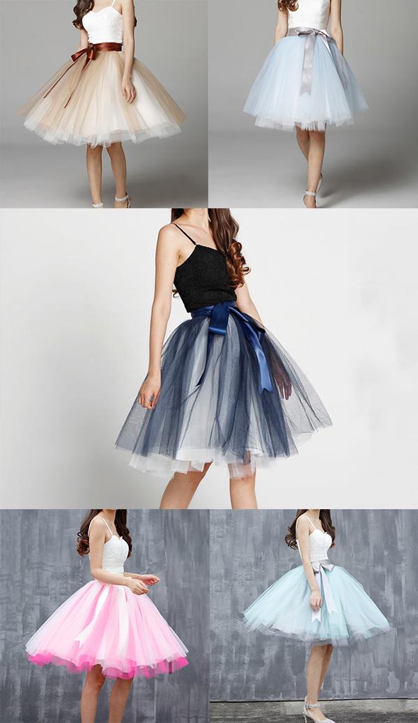 Knee length tulle skirt 1