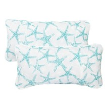 Mozaic Company Indoor/ Outdoor 12 by 24-inch Corded Pillow, Aqua Starfis... - $35.84