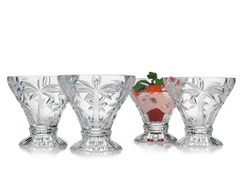 SET OF 4 Shannon Crystal South Beach Palm Desse... - $29.91